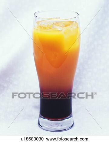 Cocktail Cassis Orange Front View Stock Image U18683030