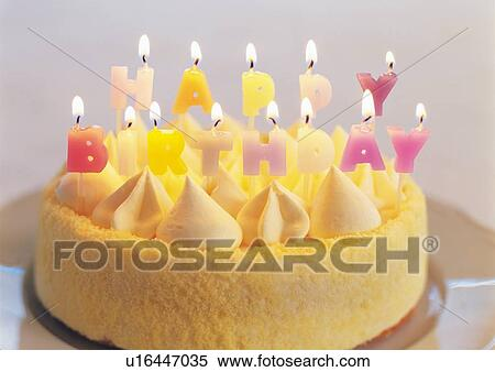 Birthday Cake With Candles Spelling HAPPY BIRTHDAY