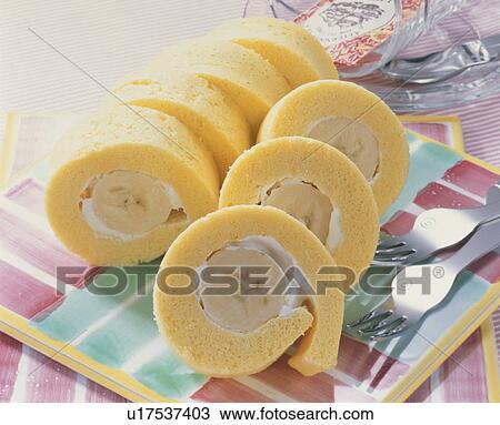 Stockfoto Banan Rulle Kage U17537403 Søg I Stockmotiver