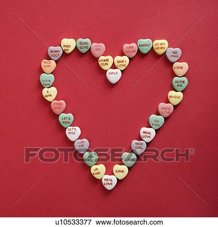 Buntes Kristallisieren Herzen Mit Sprüche Auf Sie