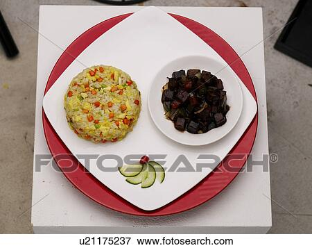 Picture of cuisine black bean paste food decoration for Poster deco cuisine