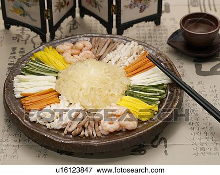 Picture of cuisine mixed seafood salad food decoration for Poster deco cuisine