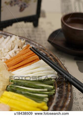 Stock photograph of cuisine mixed seafood salad food for Poster deco cuisine