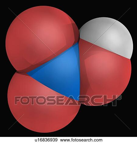 Stock Illustration Of Nitric Acid Molecule U16836939 Search Vector