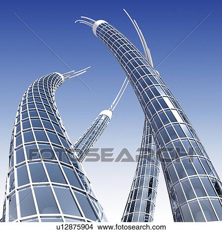Futuristic Skyscrapers Drawings Drawing Futuristic