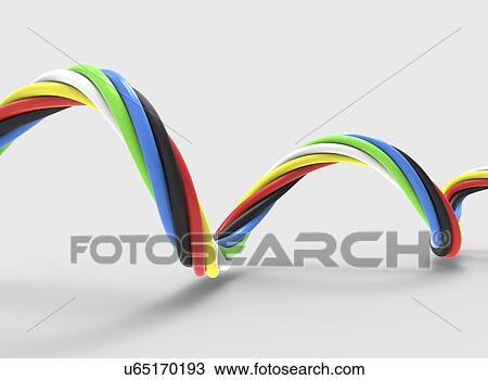 Zeichnung - elektrisches kabel, kunstwerk u65170193 - Suche Clipart ...