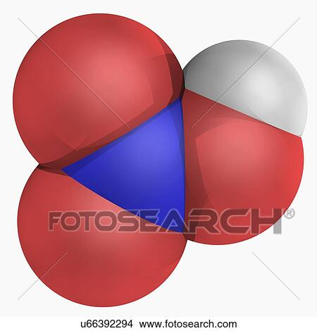Drawings Of Nitric Acid Molecule U66392294 Search Clip Art