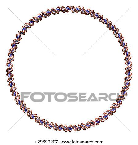 stock illustration of circular dna molecule artwork u29699207