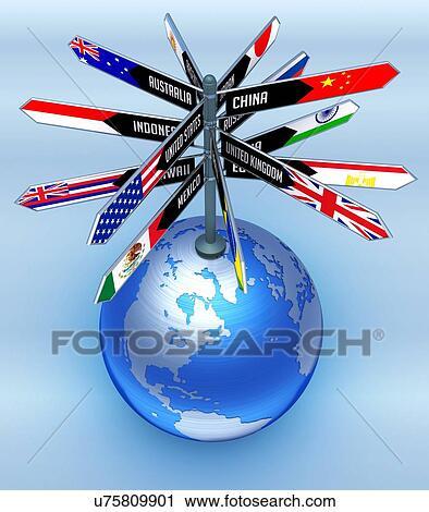 Clipart Of International Travel Conceptual Artwork U75809901