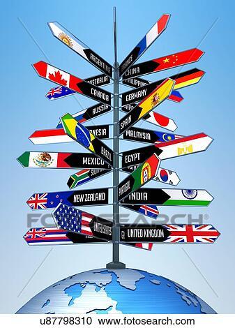 International Travel Conceptual Artwork