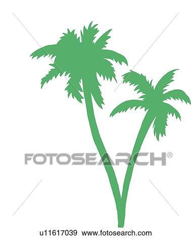 ヤシの木 シルエット イラスト U11617039 Fotosearch