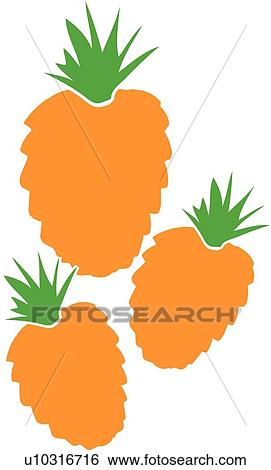 stock illustration of pineapples u10316716 search clip art