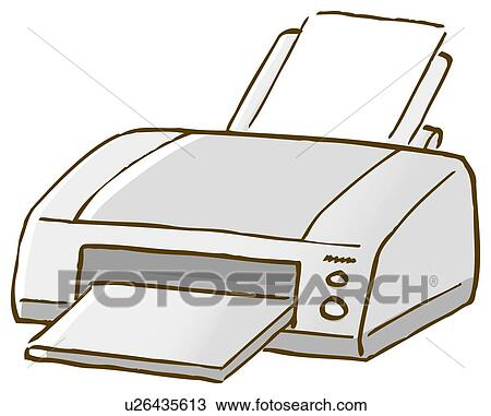 drawing of printer  close up  high angle view u26435613 Facebook Icon Vector House Icon Vector