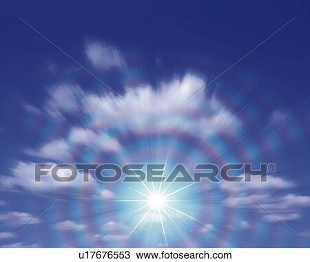 Cielo Y Luz Cg 3d Movimiento Velado Estallo Lente Dibujo