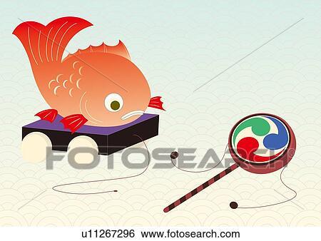 日本語 おもちゃ 絵 イラスト Illustrative 技術 イラスト