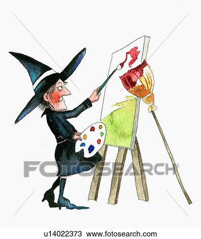 Dessin sorci re peinture toile sur chevalet for Chevalet peinture