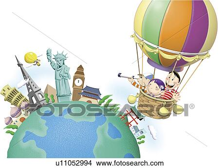 World Cartoon Drawing Travel World Cartoon