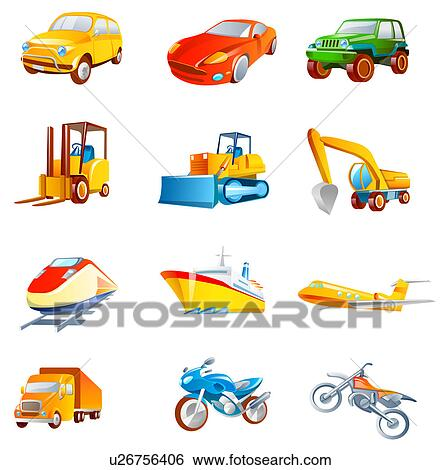 Different Types Of Vehicles >> Stock Illustration Of Different Types Of Land Vehicles U26756406
