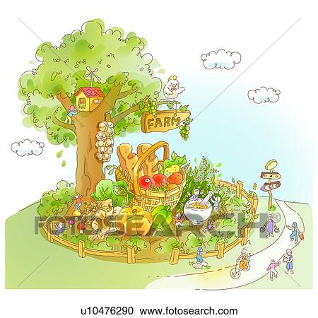Vector Illustration - Little kids playing in the garden. EPS Clipart  gg90540277 - GoGraph