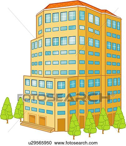 Commercial Buildings Clip Art
