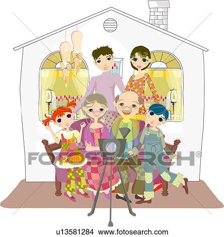 Dessins petits enfants grand m re parents p re m re grand p re u13581284 recherche de - Dessin grand mere ...
