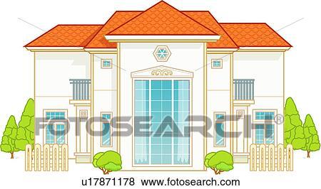 Banque d\'Illustrations - habitation, famille, architecture ...