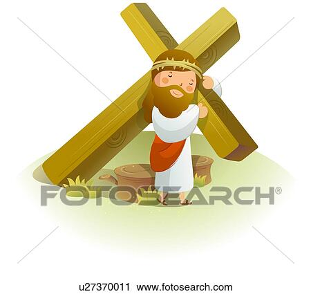 clipart of jesus christ carrying a crucifix on his shoulders rh fotosearch com clip art of jesus christ free clipart jesus christmas
