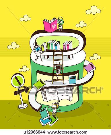 Kresby Detail O Jeden Moderni Knihovna Budova U12966844