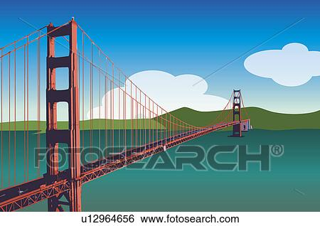America San Francisco Golden Gate Bridge Stock