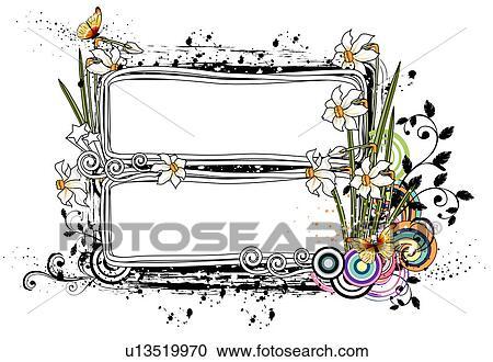二, 长方形, 框架, 带, snowdrop, 花 u13519970 搜寻创意花式
