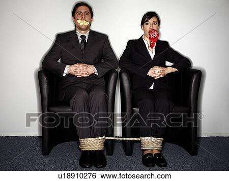 Men Bound And Gagged By Women
