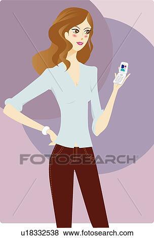 Banque D Illustrations Humain Femme Facile Gens Cellule