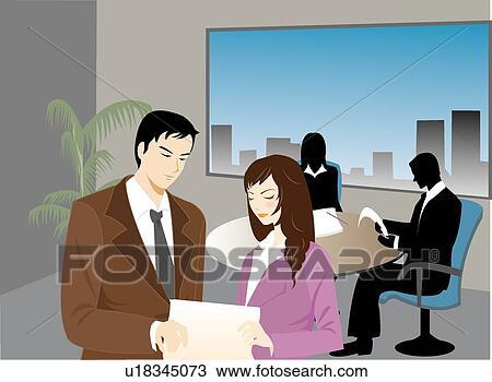 foto de Femme femme discuter business collègues travail