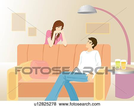 女 美しい 健康 男性 女性 女の子 微笑 イラスト U12825278