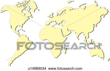 地球 赤道 線 海 世界 世界地図 国 地図 イラスト U14969534