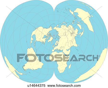 stock illustration of continents globe map country world