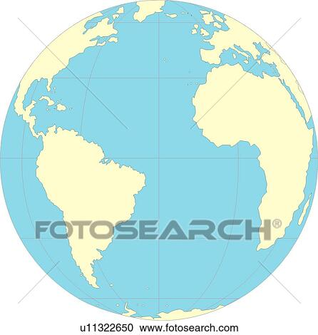 Stock Illustrations of continents, World Map, globe, Map, sea ...