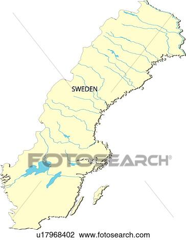 Clip Art of World Map 2, country, Sweden, land, world, equatorial ...