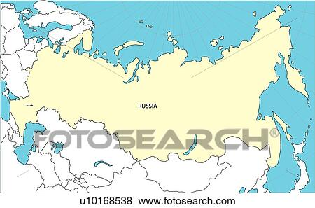 Stock Illustration   World Map 2, Russia, World, Countries, Land,  Illustration