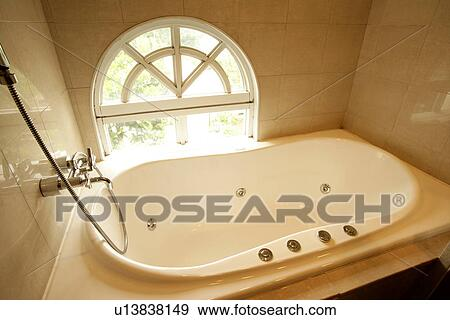 Tab Restroom Decoration Interior-Living Space 2 Taking a shower Tub & Stock Photograph of Tab Restroom Decoration Interior-Living Space ...