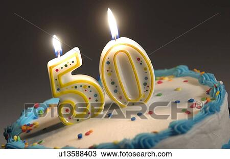 Cool 50Th Birthday Cake Stock Image U13588403 Fotosearch Funny Birthday Cards Online Fluifree Goldxyz