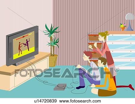 To Play Video Games Clipart