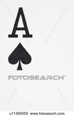 Stock Photo Of Ace Of Spades Playing Card Close Up U11305503