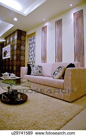 Stock Fotografie - hippe, stijl, woonkamer u29741589 - Zoek Stock ...