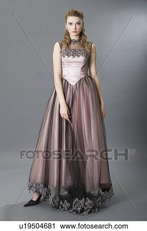 Stock Photography of Teenage girl in evening gown u19504681 - Search ...