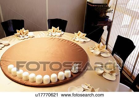 Stock Image   Table Setting In Chinese Restaurant. Fotosearch