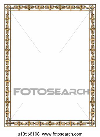 Fotos - borde, armazón, patrón, clásico, arte, marcos, diseño ...