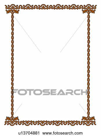Stock Photography of decorative design, frame, rim, framework ...
