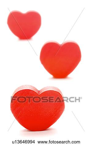 Stock photo of three heart shaped objects u13646994 search stock three heart shaped objects thecheapjerseys Images