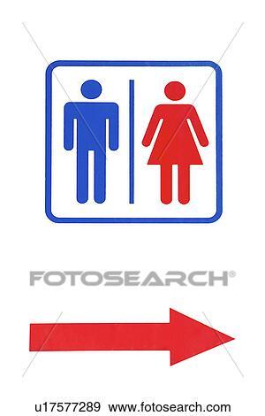 Ba o p blico y muestra de la flecha colecci n de foto - Muestras de banos ...